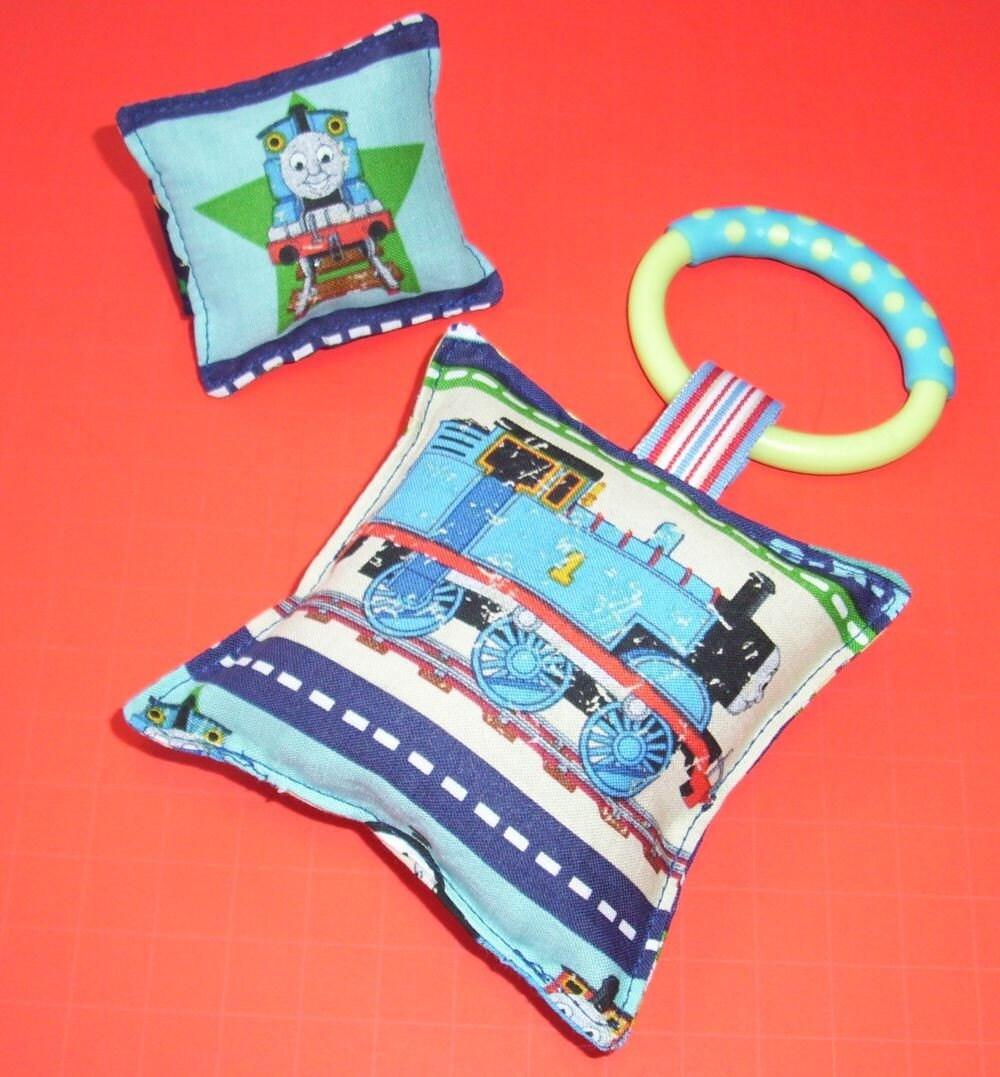 Thomas the Train Squeaky Toy/Wrist Rattle Set/Reversible/BOGO Sale