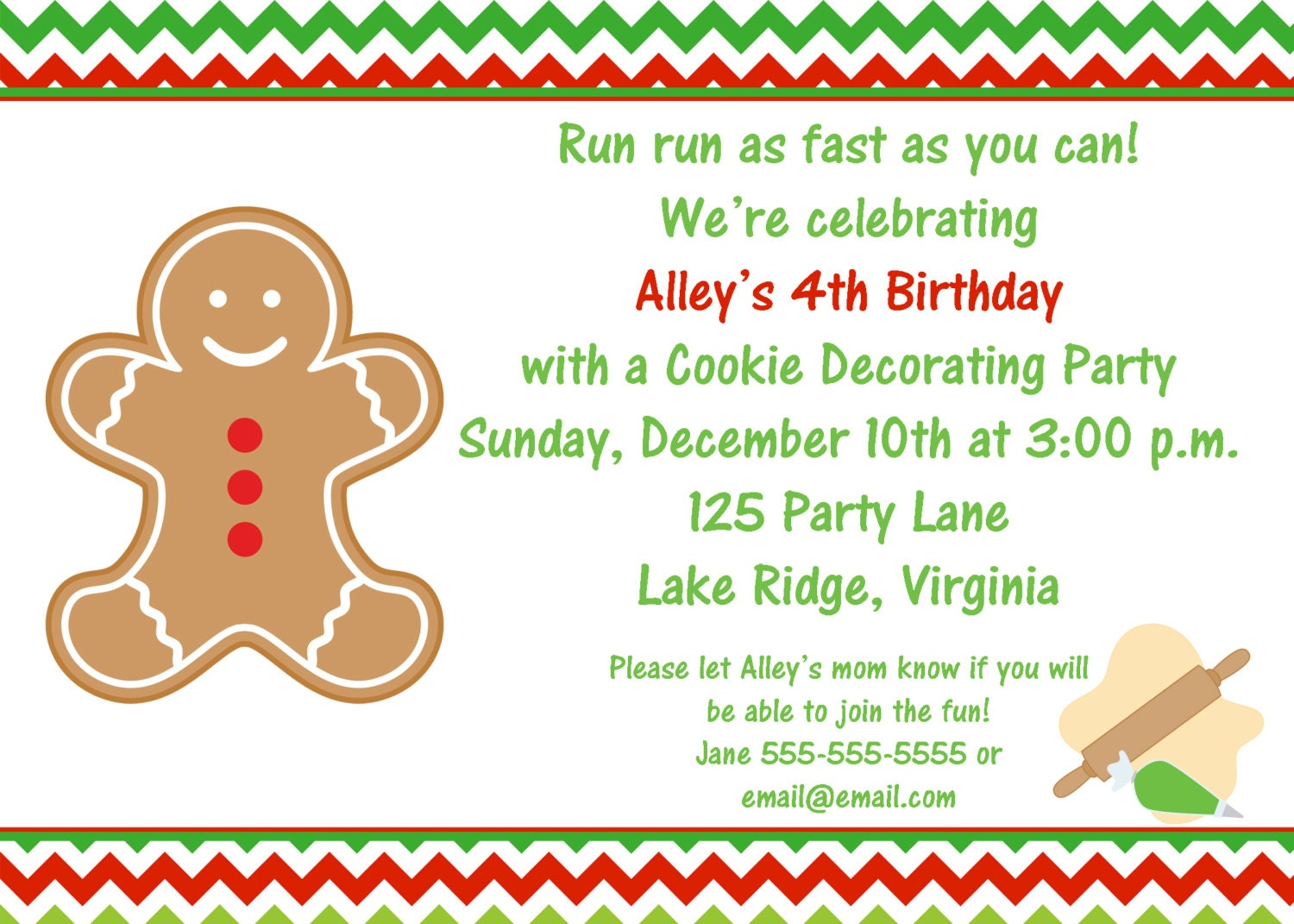 Printable christmas cookie decorating party invitation by noteworthy