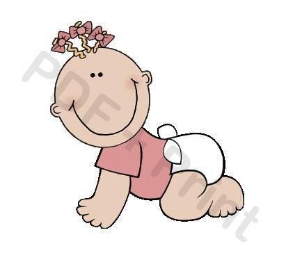 clip art baby girl. Baby Girl - Clip Art