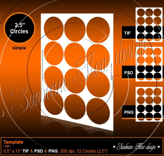 instant download 2 5 circles template 09 by sunbeamflowtemplates. Black Bedroom Furniture Sets. Home Design Ideas