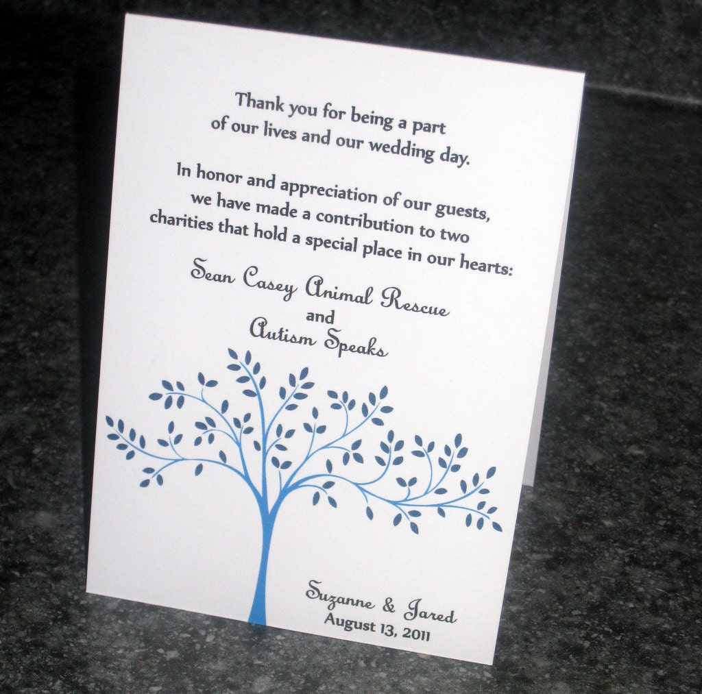 Wedding Gift Contribution Message : Charitable Donations Wedding Favors Wording