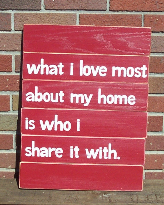 What I love Most SLAT SIGN CUSTOM Red Distressed Handmade Hand-painted Wooden 16x21 Whagn