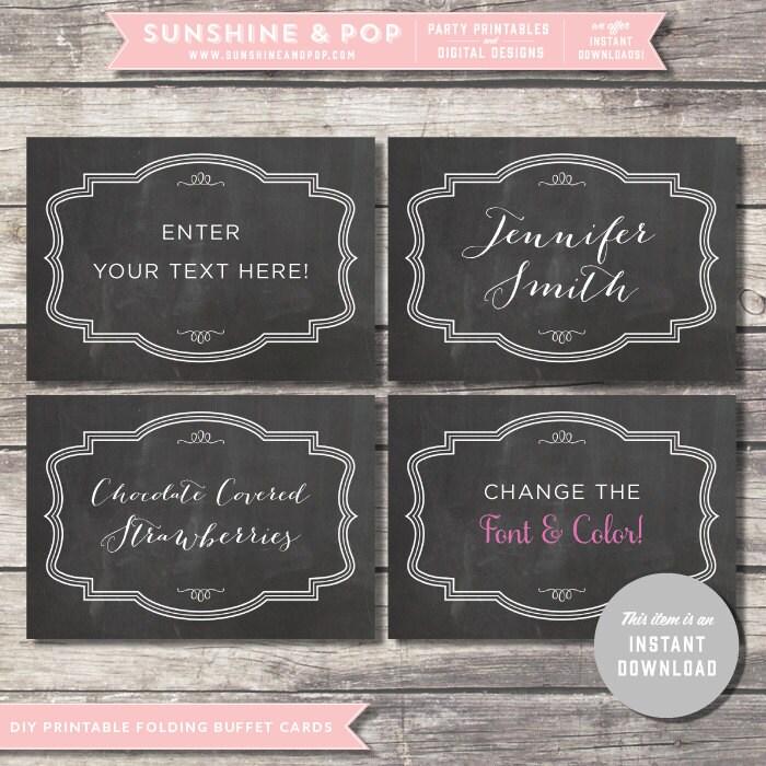 INSTANT DOWNLOAD Chalkboard EDITABLE Folding by SunshineAndPop