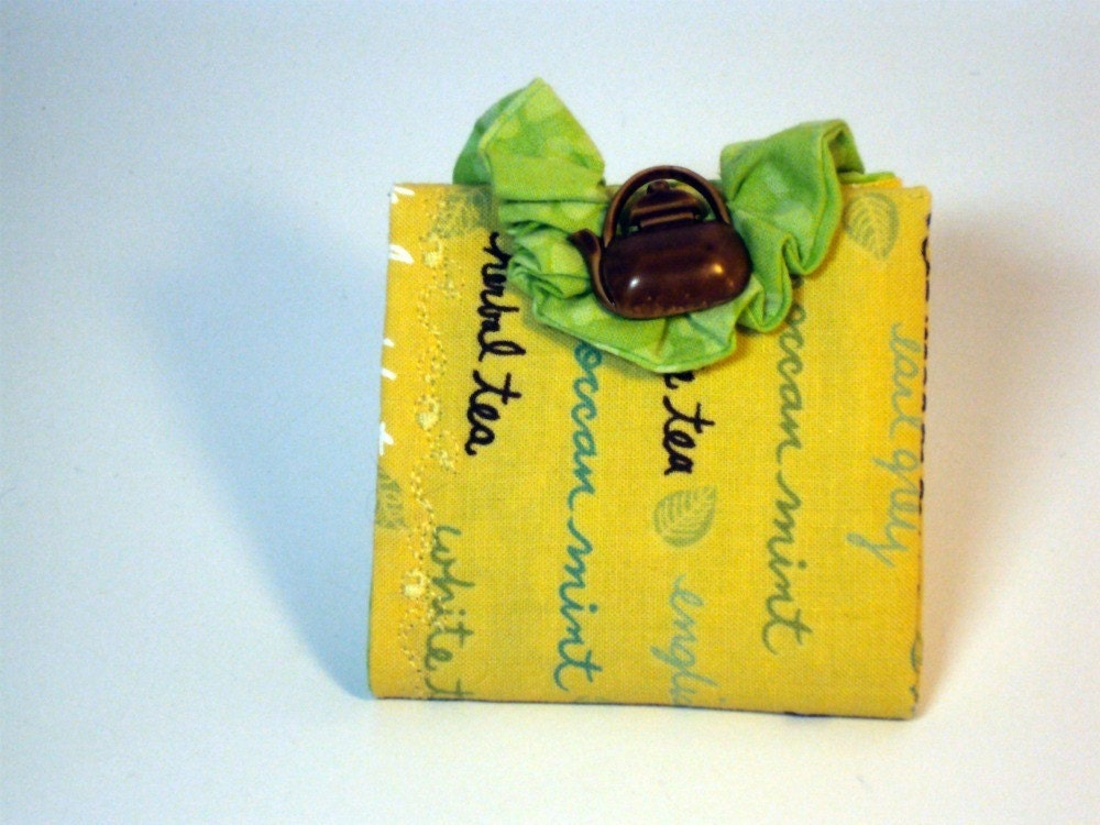 Tea Bag Wallet - Time for a Tea Party