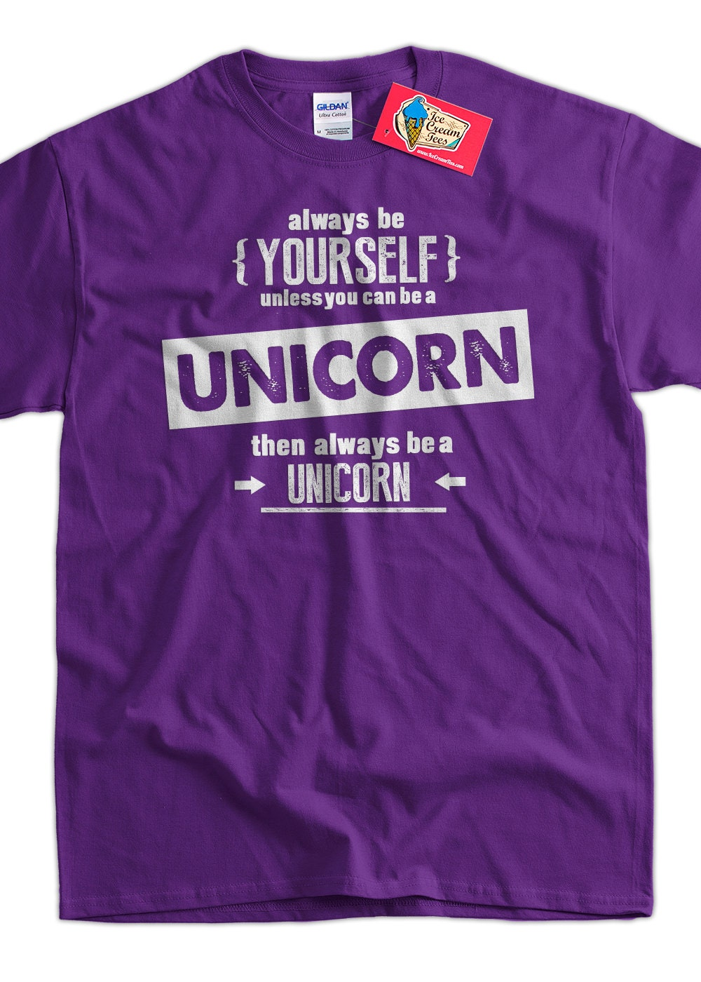 Funny Unicorn T Shirt Be Yourself T Shirt Be A By Icecreamtees