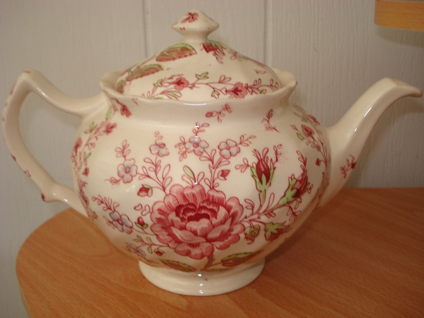 Vintage 1950's Rare England Johnson Brothers Rose Chintz Tea Pot