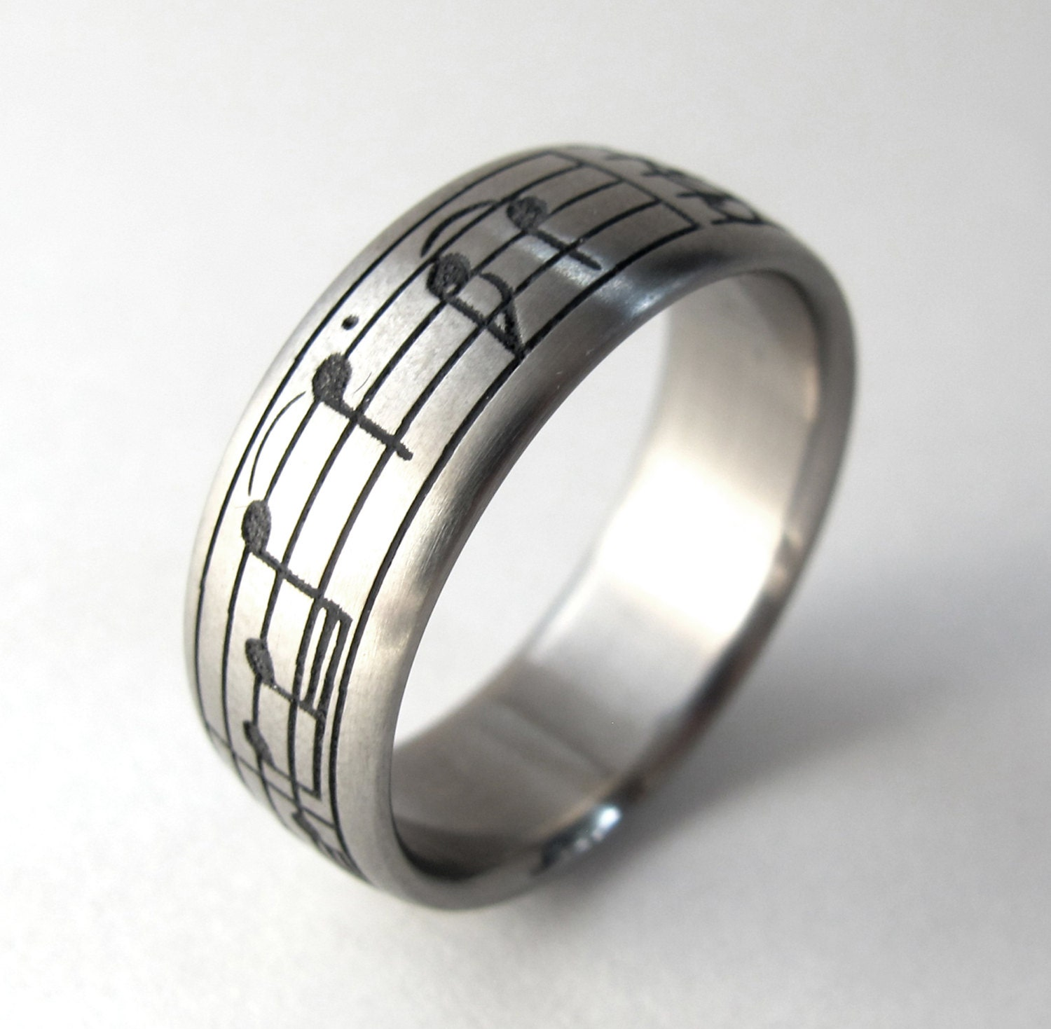 personalized ring custom titanium ring by