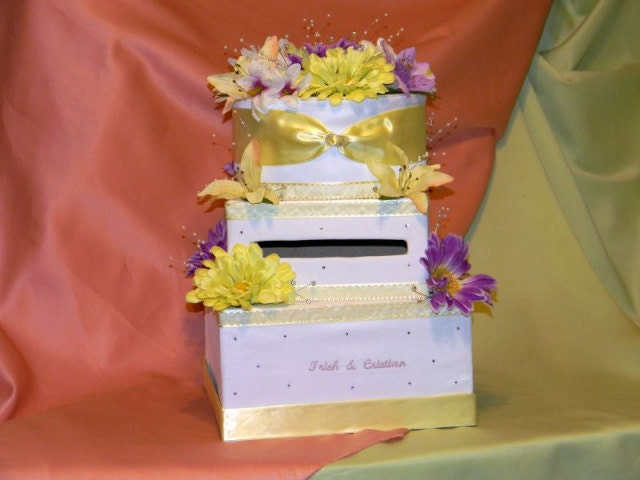 Money Card Box 3 layer Unique any color combination MBWBox White Yellow