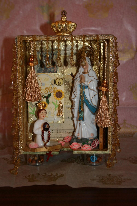 Queen of Heaven - Vignette of Lourdes