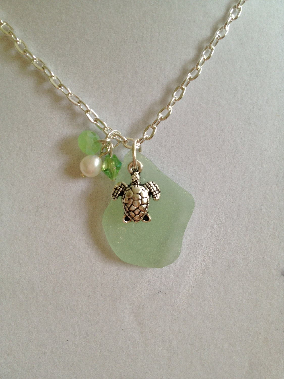 items similar to sea glass necklace on etsy