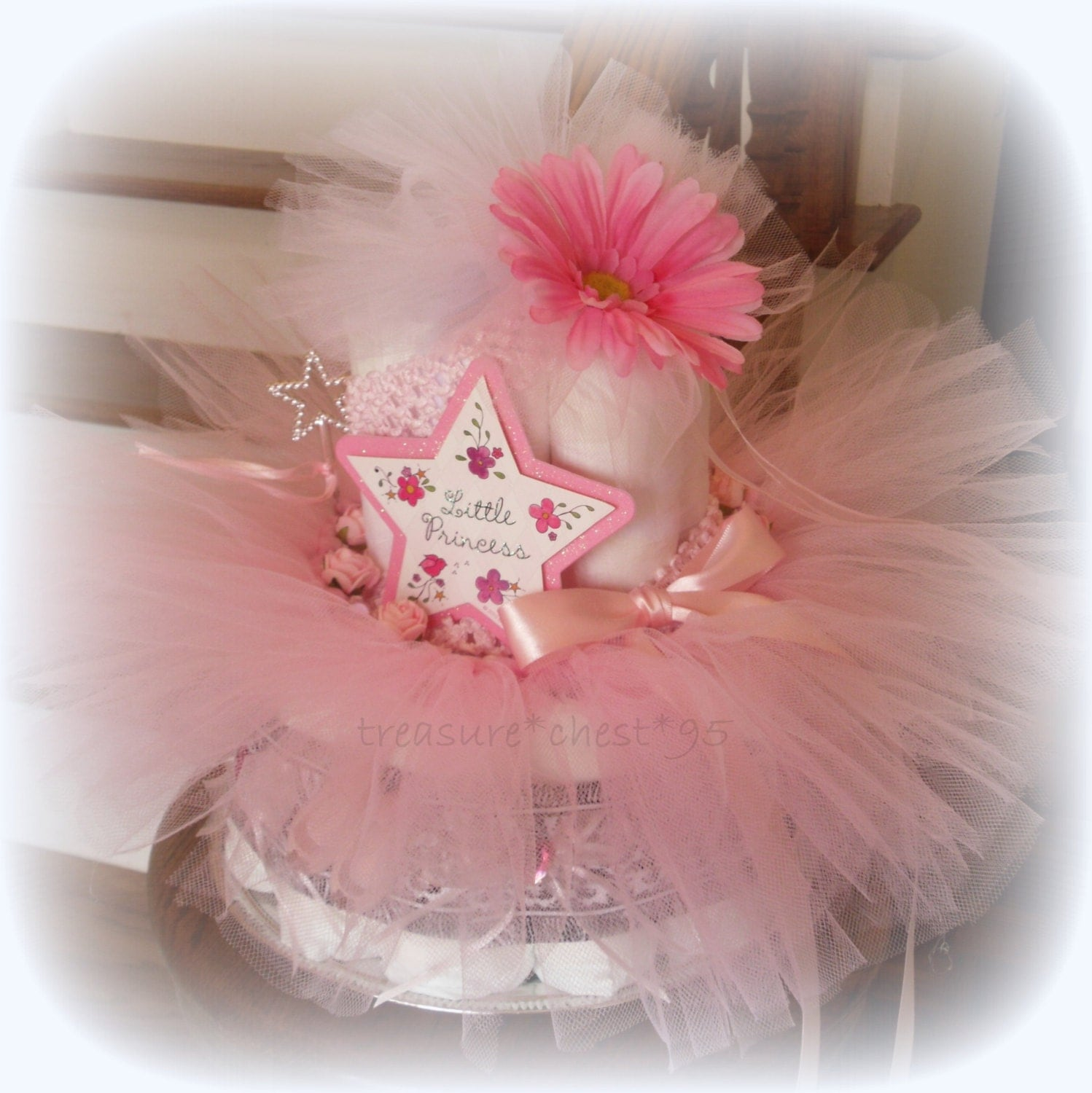 princess diaper cake baby shower by rachelskidsboutique on etsy