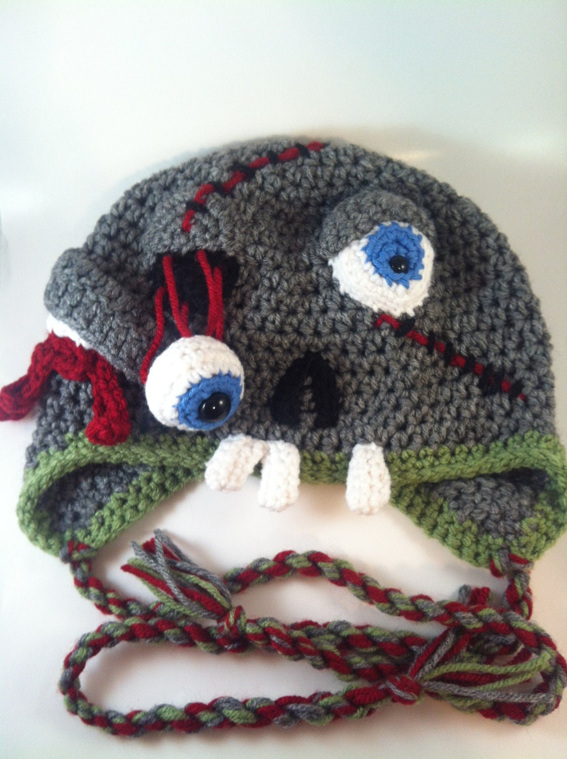 ... zombie skeletor hat crochet ravelry abstract crochet cats pattern by