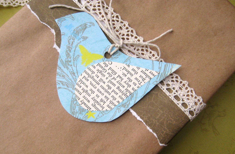 5 beautiful Bird Gift Tags - Birdy NumNum sweetness