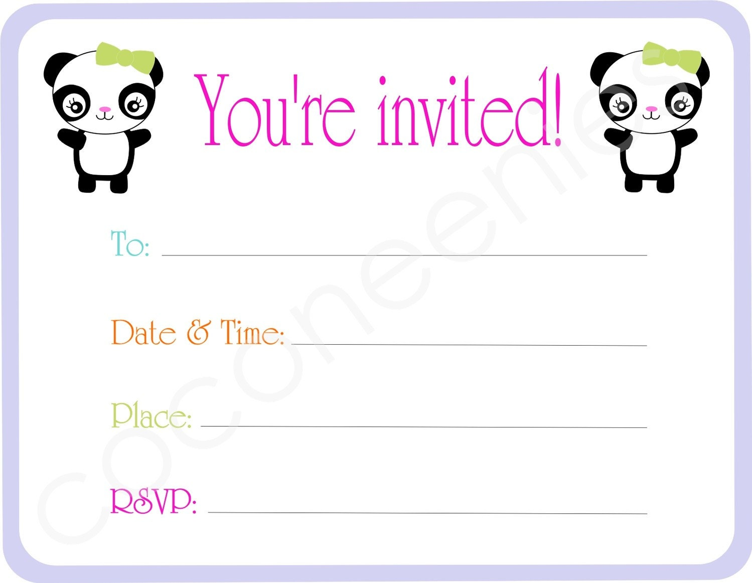 Blank Party Invitations is an amazing ideas you had to choose for invitation design