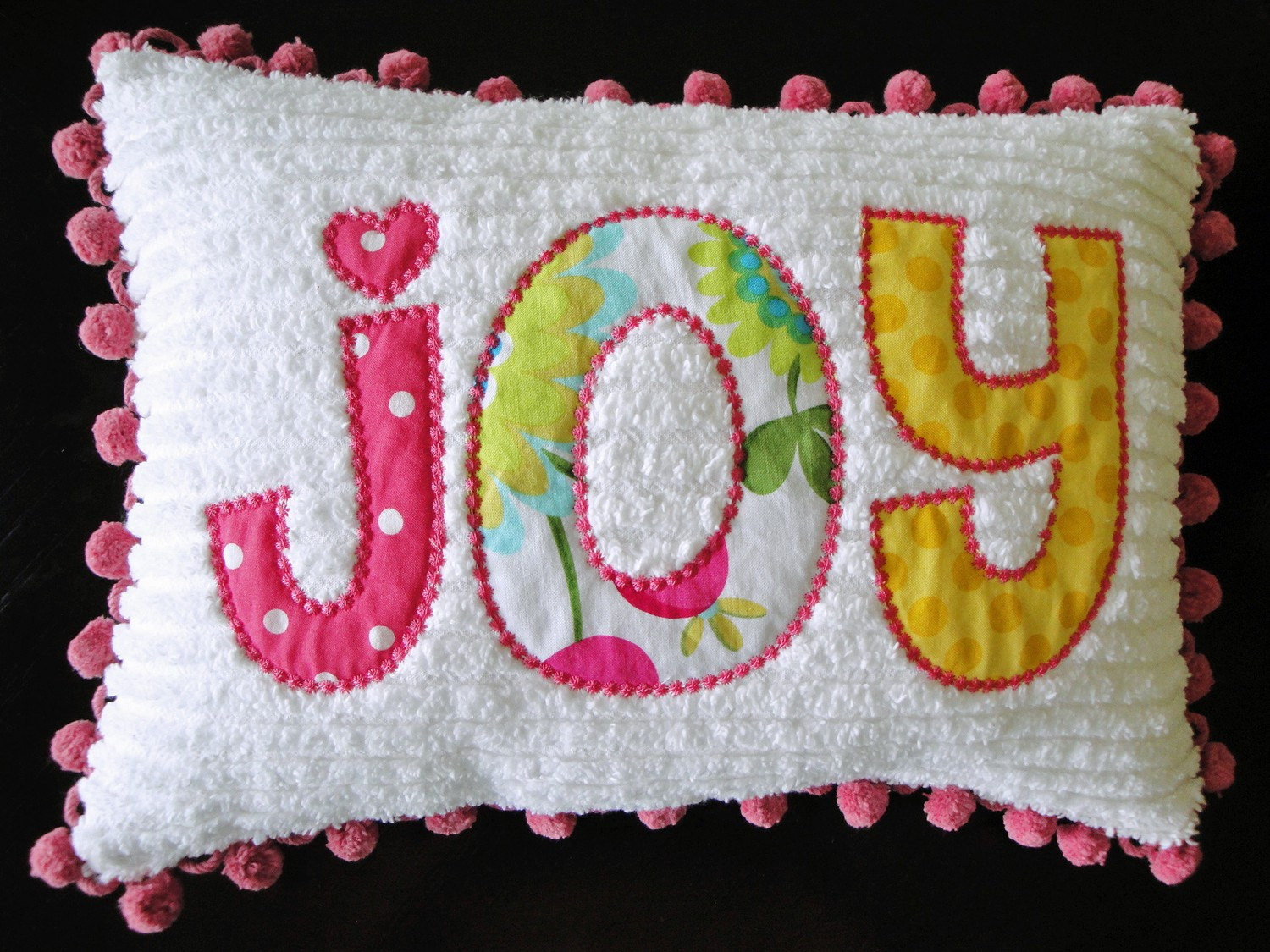 Personalized Chenille Name Pillow