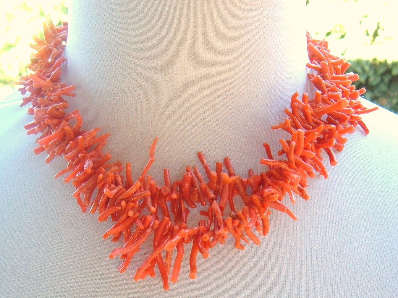Reserved for Elizabeth ///Vintage Coral Branch two strand Necklace