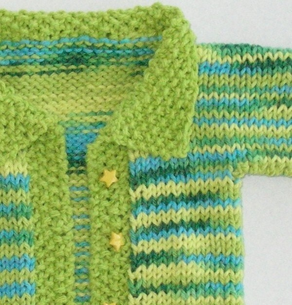 Baby Boy Handknit Cotton Sweater