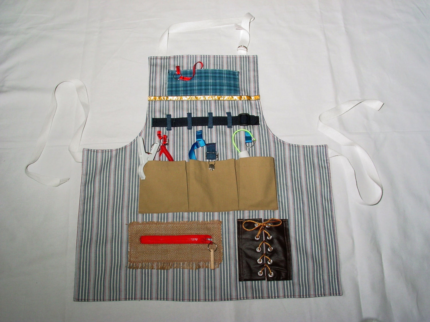 Busy Fingers Fidget Apron Tactile Bright Amp By Endearingdignite