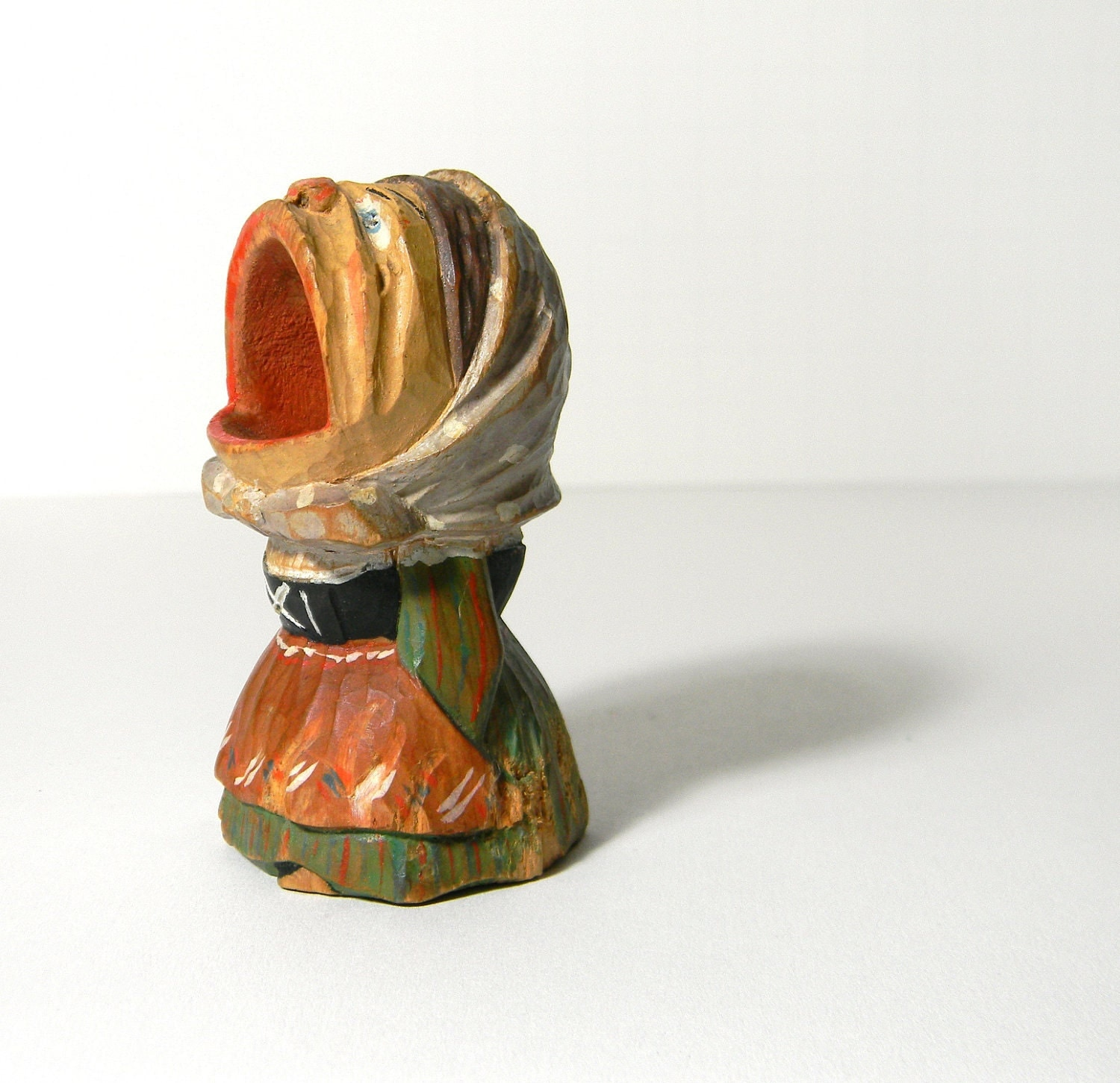 Anri wooden toothpick holder vintage hand by mylittlethriftstore - Wooden pocket toothpick holder ...