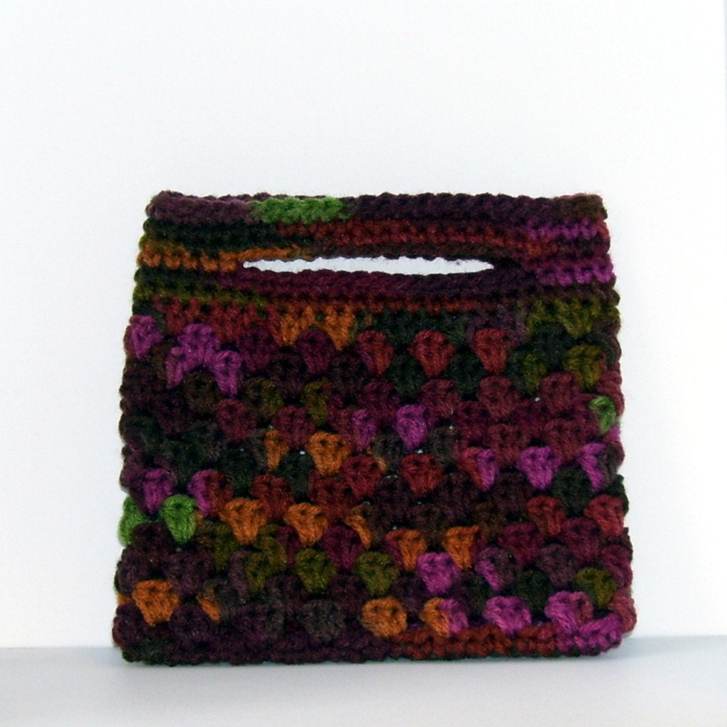 Crocheted Clutch Shell Variegated