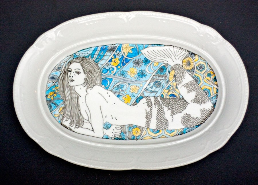 Mermaid Large Serving Plate