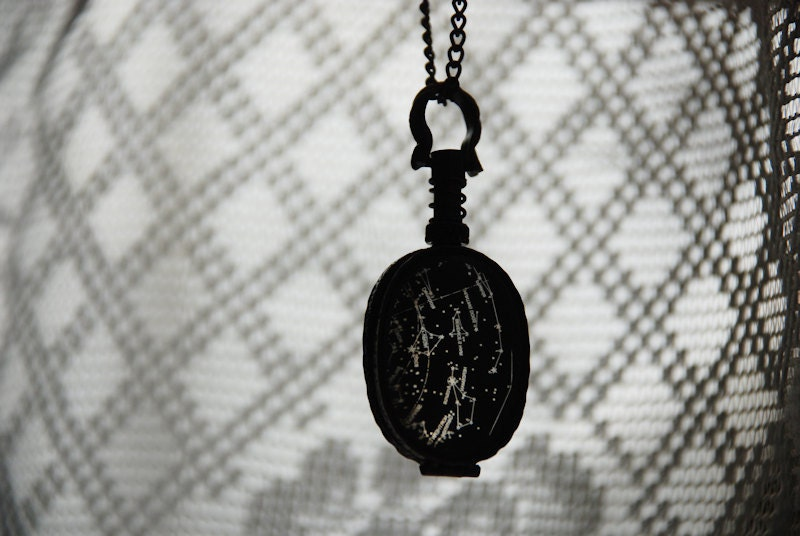 Winter sky locket