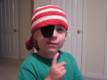 Pirate Hat With hidable eye patch Crochet Pattern