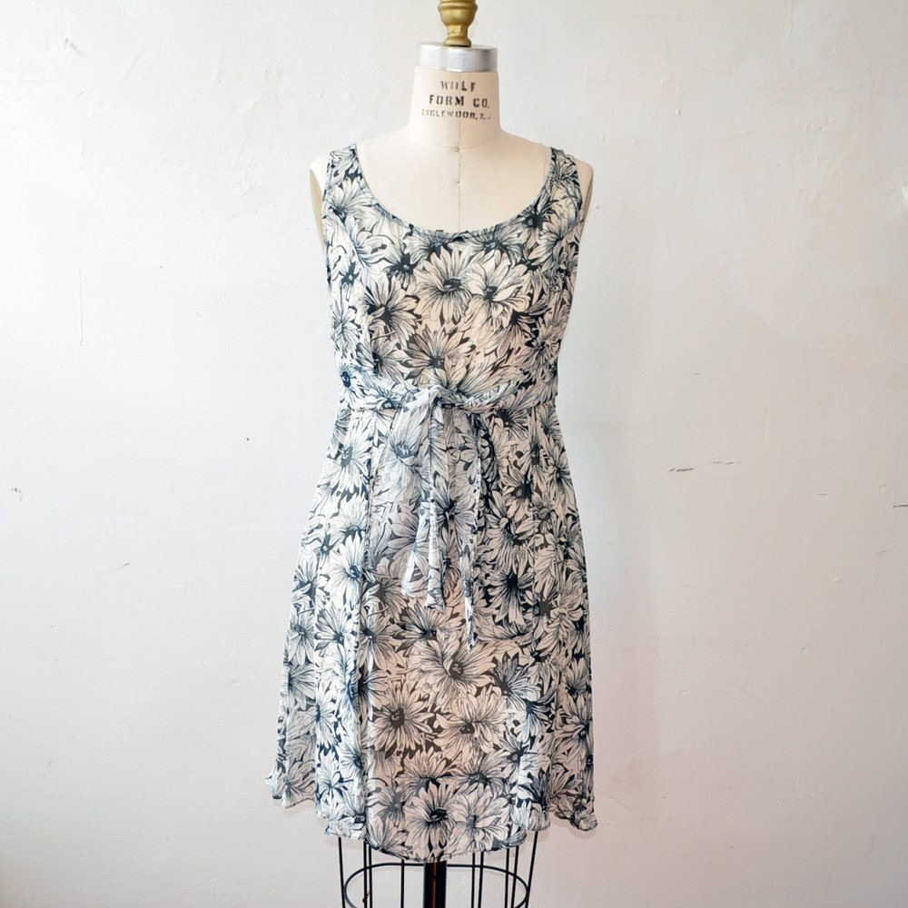 Vintage Betsey Johnson Floral Mini Dress 10