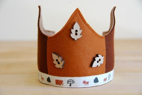 Waldorf Wool Felt Crown -  Safari