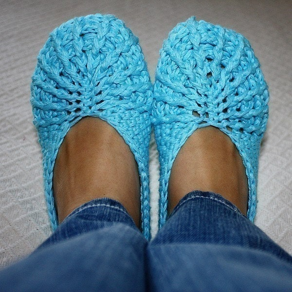 Free Patterns To Crochet Slippers : Crochet PATTERN pdf file Spider Slippers Adult by ...