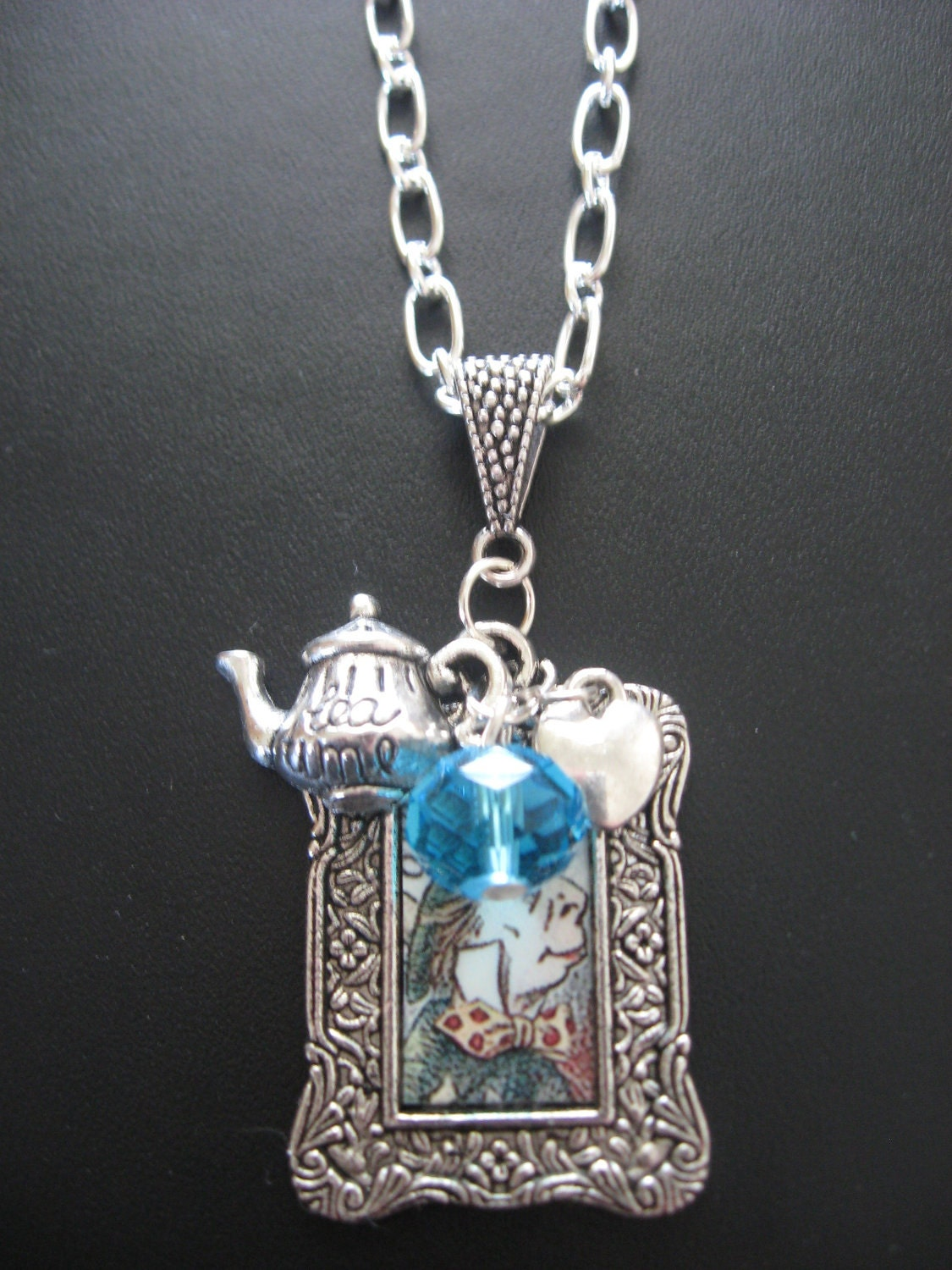 mad hatter jewelry necklace tea necklace with by