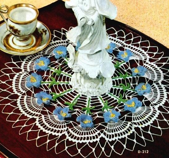 Pansy Doily - Country Yarns' Crochet Leaflets