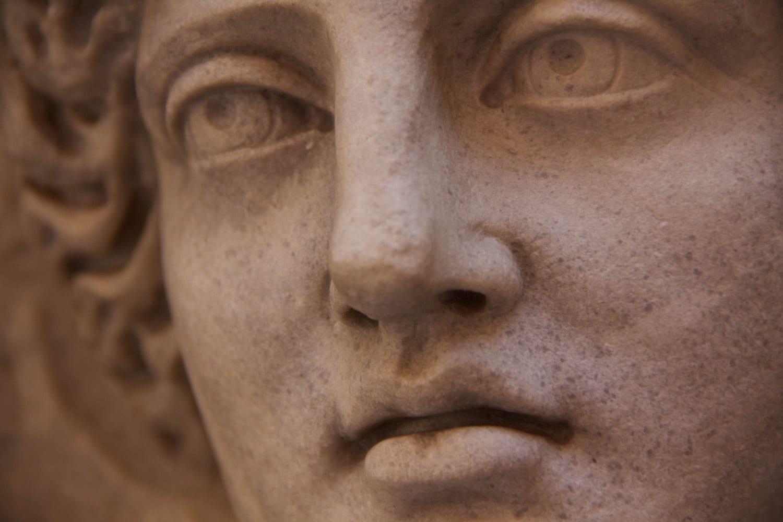 Italian Fine Art Photograph No. 9378. 8x10 Luxury Print Rome Italy Goddess Statue Sculpture Marble Shabby Chic Weathered Feminine Roman Girl - AndreaHoag