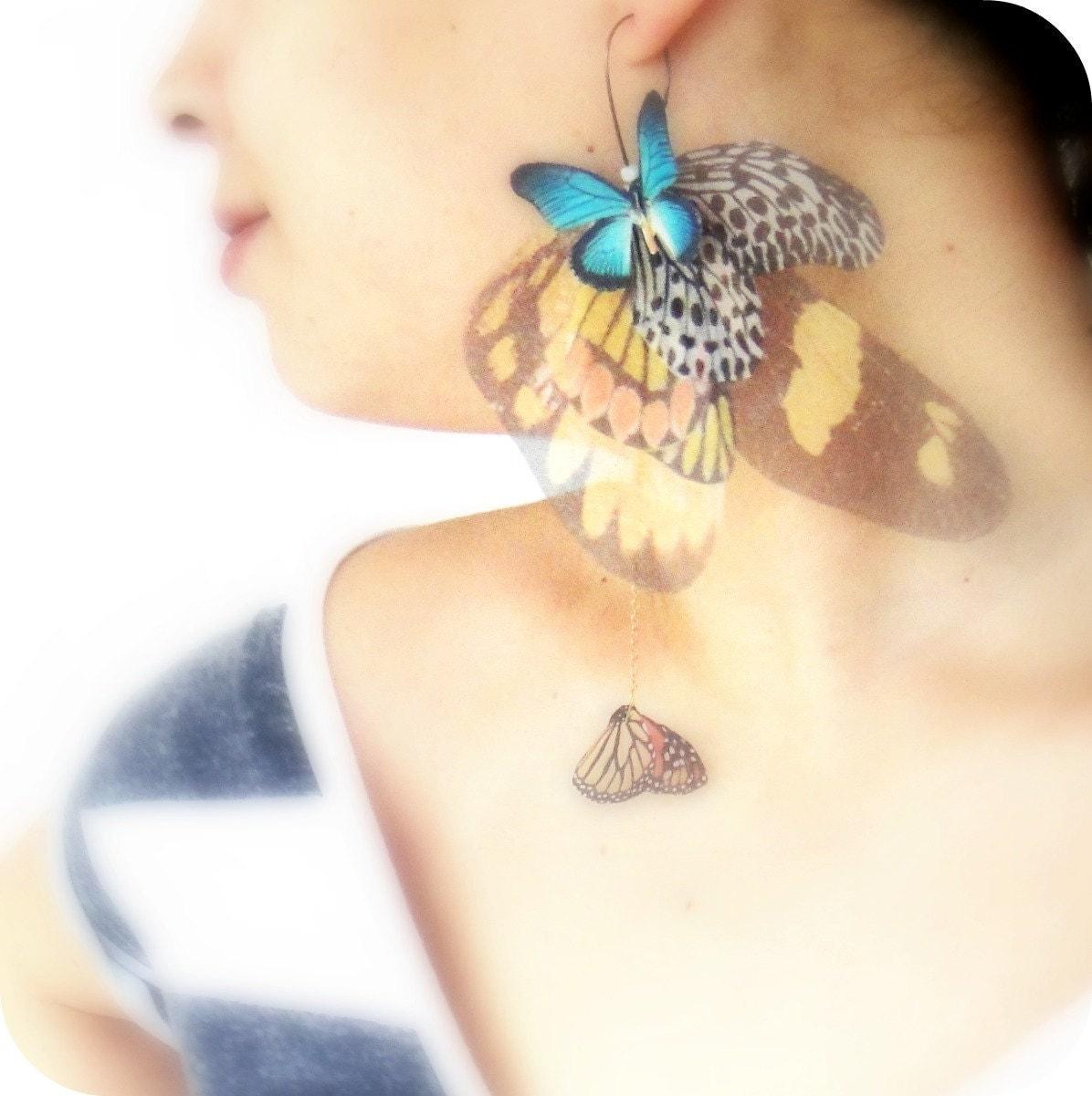 Большой Fluttery Крылья кластера Серьга заявлении кусок SINGLE готово к отправке