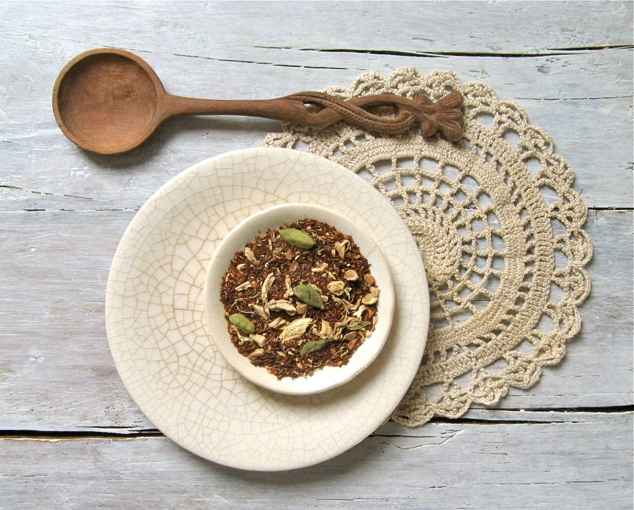 Organic Rooibos Chai Tea | ArtfulTea Luxury Loose Leaf Blend | Herbal Chai | Ginger, Cardamom, Cinnamon, Cloves - ArtfulTea