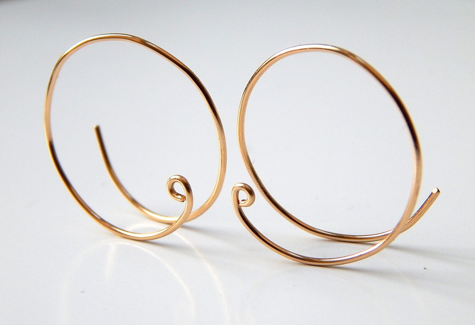 Gold Hoop Earrings Sterling Silver Hoops Earrings Rose Gold Hoops Silver Hoops 14k Gold Small Open Hoops Hoop Earrings Gift Ideas