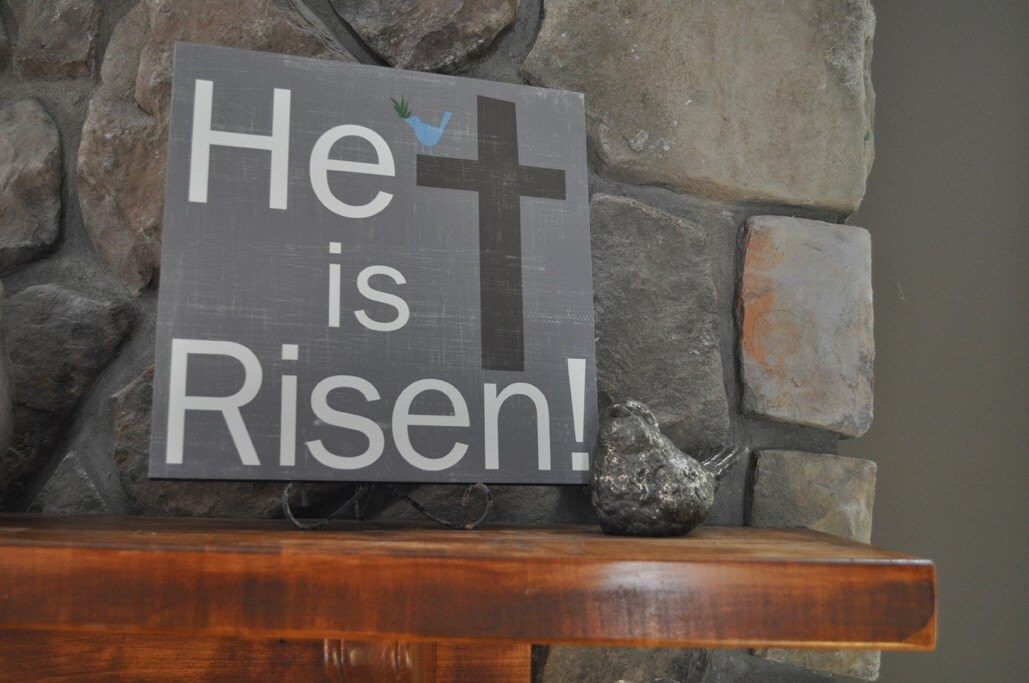 APRIL Print Of The Month He Is Risen- 12x12 CAFE MOUNT