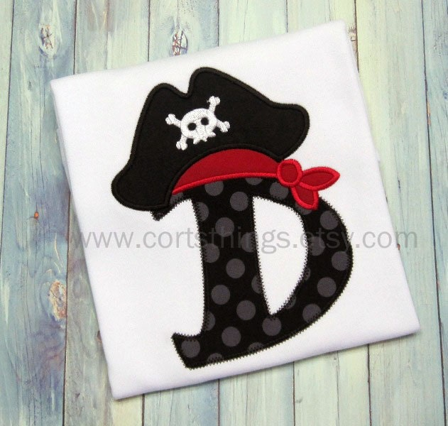 Personalized Initial Pirate Shirt - cortsthings