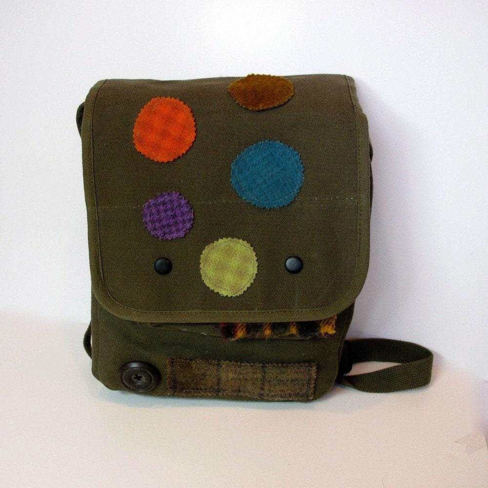 Military Army Bag Medium Satchel On a Mission