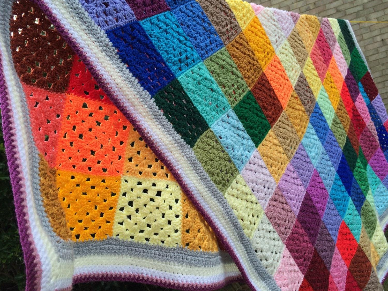 Multicoloured Throw Blanket