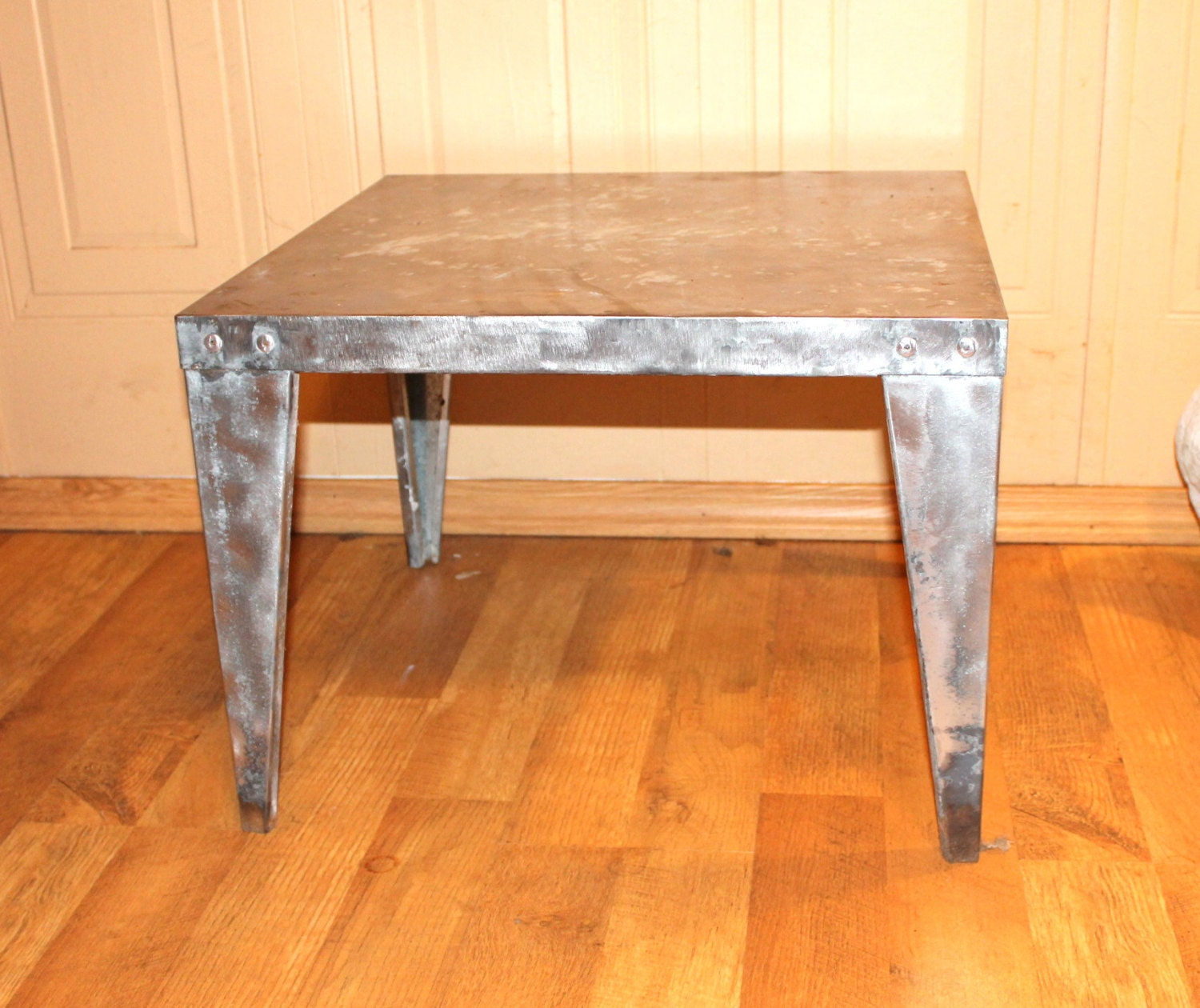 Items Similar To Industrial Small Metal Coffee Table On Etsy
