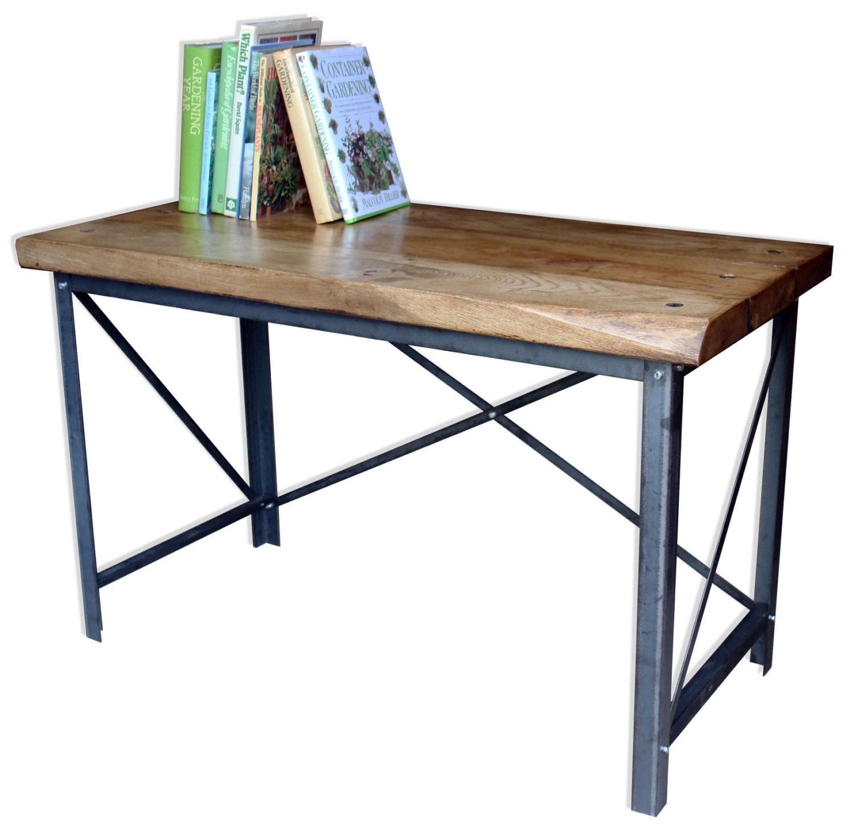 KONK!  Industrial Style OakSteel Desk Bespoke sizes available!