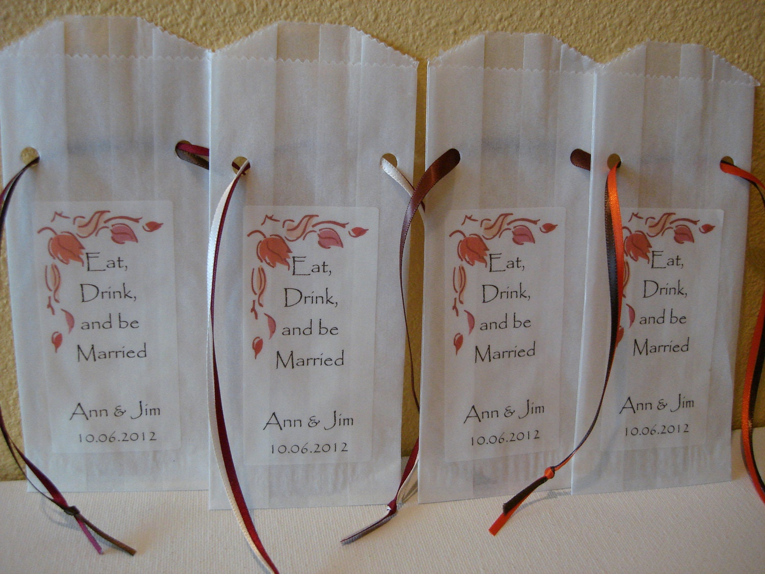 Wedding Favor Bags For Candy : 100 Fall Wedding Favor Bags Party Favors by NoyesCreekFarm
