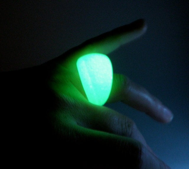 Unavailable listing on etsy for Glow in the dark resin