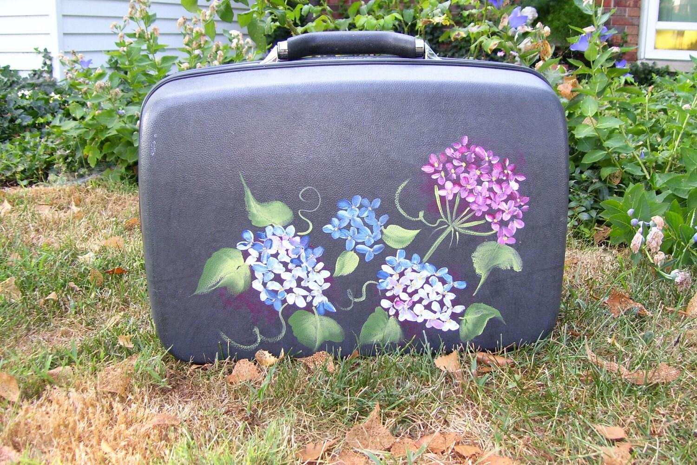 Upcycled Handpainted Luggage