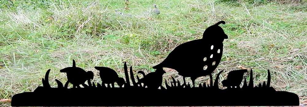 This is a family of quail   Quail Family Silhouette