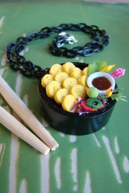 OOAK Realistic  Kawaii Sushi Necklace