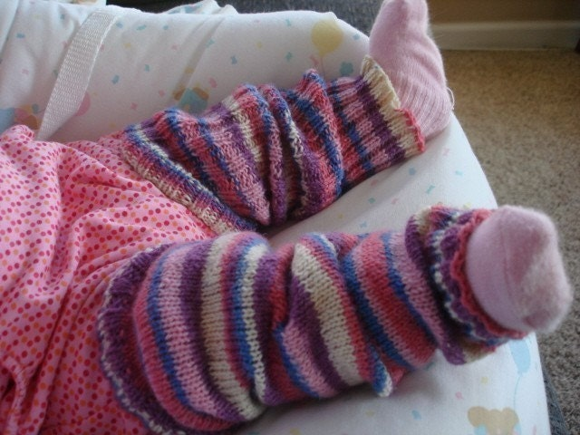 Knit pattern Infant Toddler Leg Warmers by KalamazooKnits on Etsy