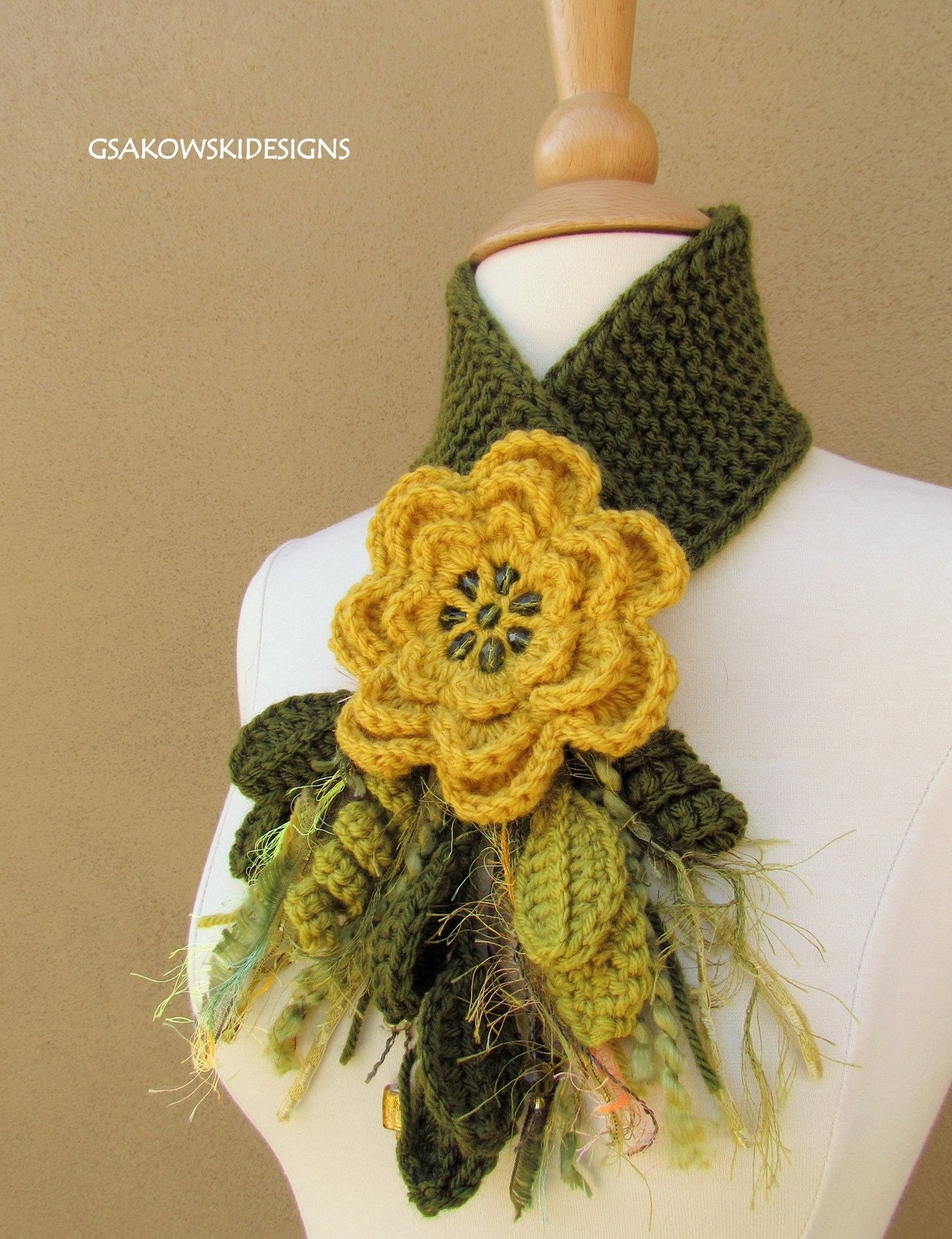 Yellow Flower Scarflette
