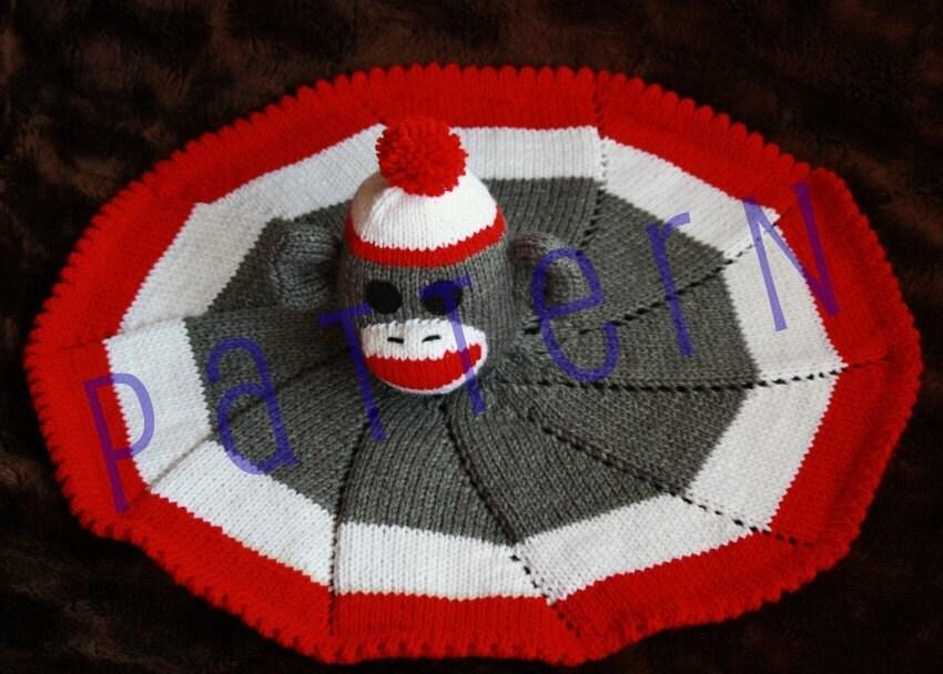Monkey Baby Blanket Knitting Pattern : Sock Monkey Lovie Baby Blanket pdf by TrappingsandTrinkets ...